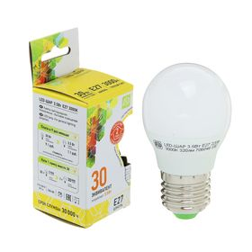 Лампа светодиодная ASD LED-ШАР-standard, Е27, 3.5 Вт, 230 В, 3000 К, 320 Лм