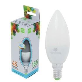 """Лампа светодиодная ASD, Е14, 5 Вт, 160-260 В, 4000 К, 450 Лм, """"свеча"""""""