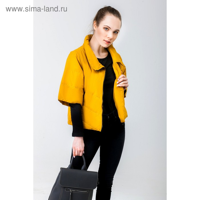 Куртка женская, рост 168 см, размер 44, цвет горчица (арт. 39)