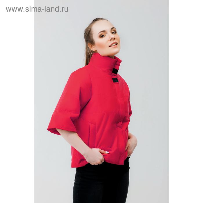 Куртка женская, рост 168 см, размер 46, цвет красный (арт. 63)