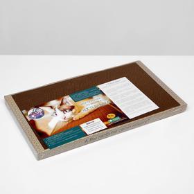 Домашняя когтеточка-лежанка для кошек, 56 × 30 (когтедралка) - быстрая доставка