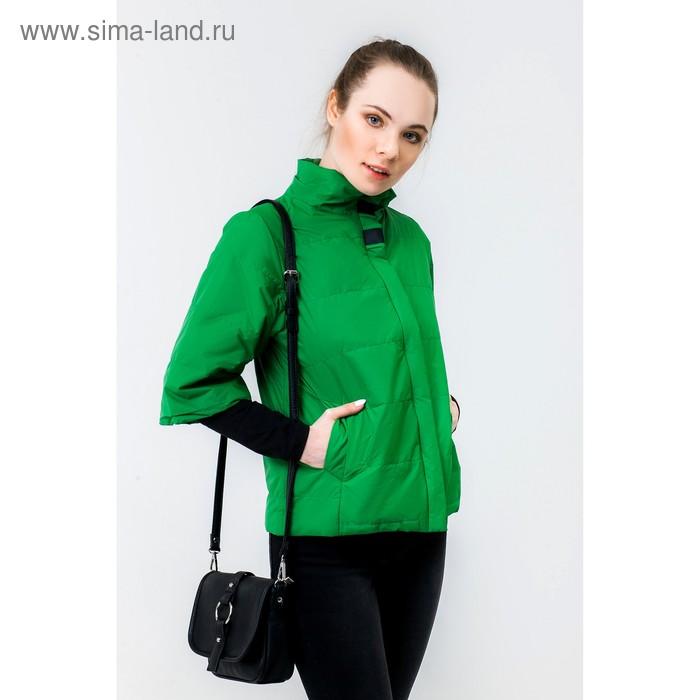 Куртка женская, рост 168 см, размер 44, цвет зелёный (арт. 63)