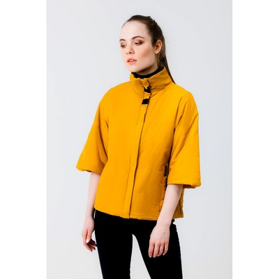 Куртка женская, рост 168 см, размер 44, цвет горчица (арт. 63)