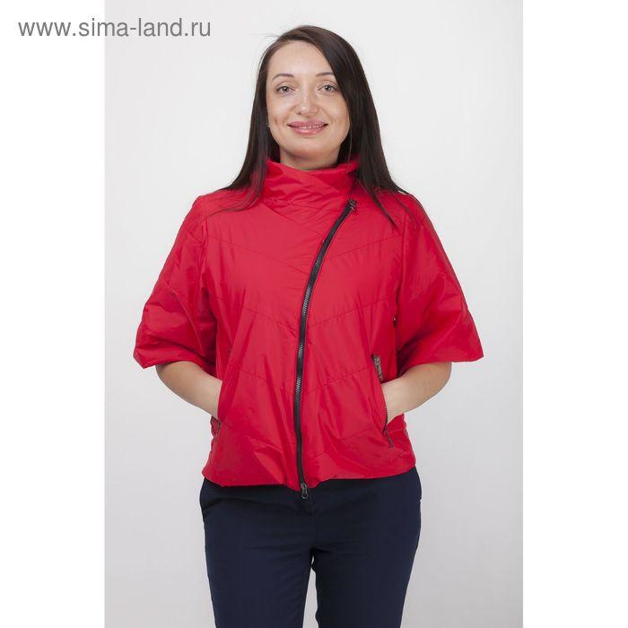 Куртка женская, рост 168 см, размер 50, цвет красный (арт. 39 С+)