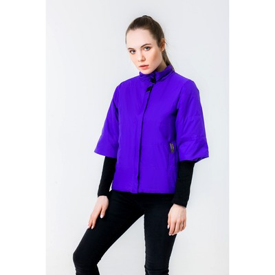 Куртка женская, рост 168 см, размер 50, цвет фиолетовый (арт. 63 С+)