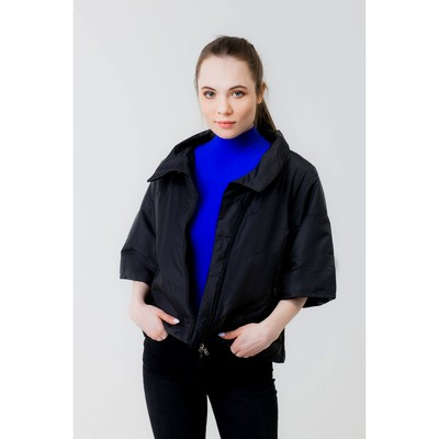 Куртка женская, рост 168 см, размер 50, цвет чёрный (арт. 39 С+)