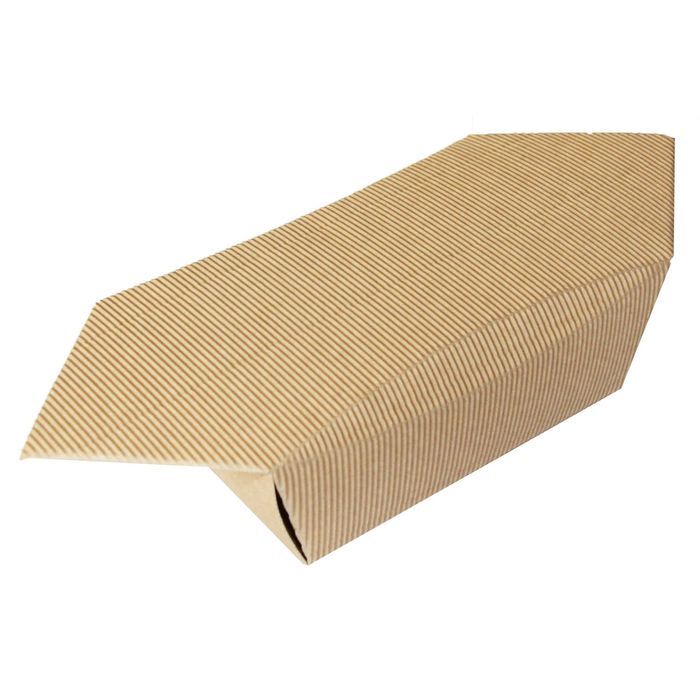 Коробка крафт из рифлёного картона, 29 х 12 х 7 см