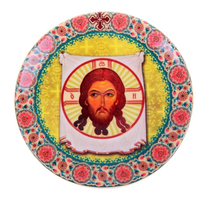 "Декоративная тарелочка ""Спас Нерукотворный"""