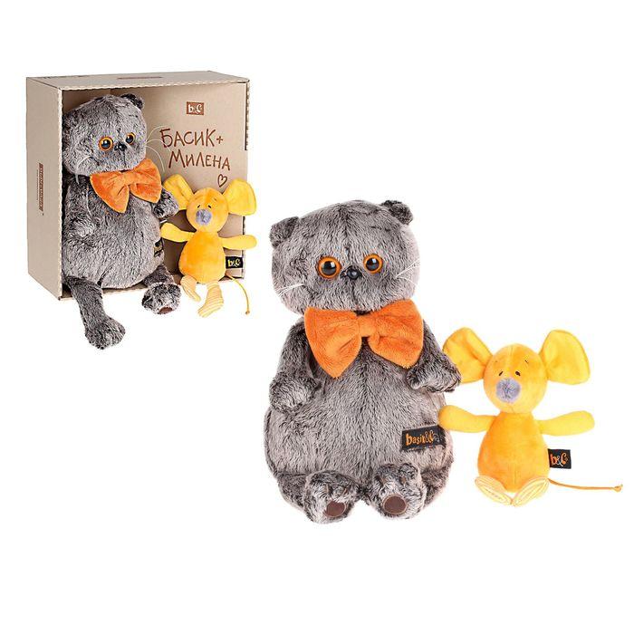 Мягкая игрушка «Басик» с мышкой Миленой - фото 1640945