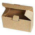 Коробка крафт из рифлёного картона, 12 х 5 х 6 см