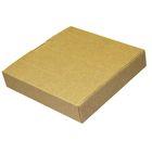 Коробка крафт из рифлёного картона, 15,5 х 15,5 х 3 см