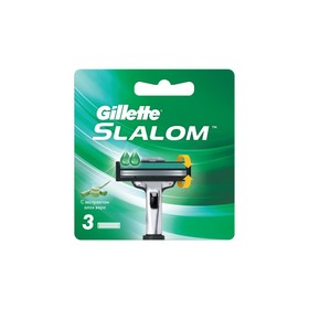 Cменные кассеты GilletteSlalom с увлажняющей полоской, 3 шт