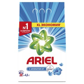 """Порошок стиральный  Ariel  автомат Lenor Effect """"Воздушная свежесть"""",4,5 кг"""