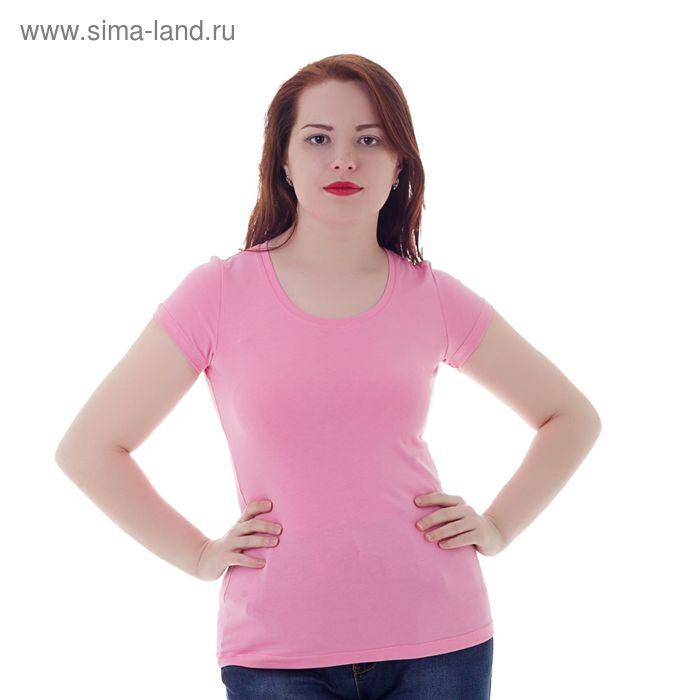 Футболка женская, цвет розовый, размер 50 (XL) (арт. Б125)