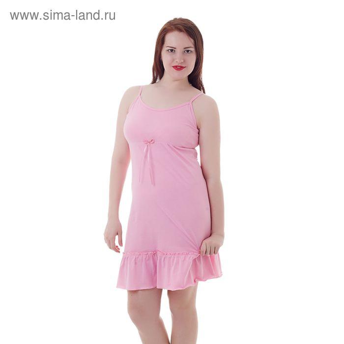 Сорочка женская А336, розовый, р-р 50 (XL)