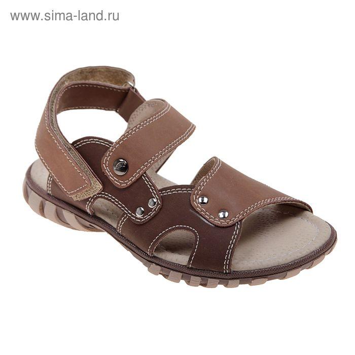 Туфли дошкольные Itop, арт. 43567/21201-1 (св.коричневый+коричневый) (р. 28)