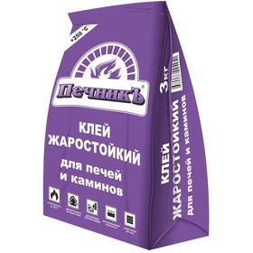 Клей жаростойкий для печей и каминов 'Печникъ' 3,0 кг Ош