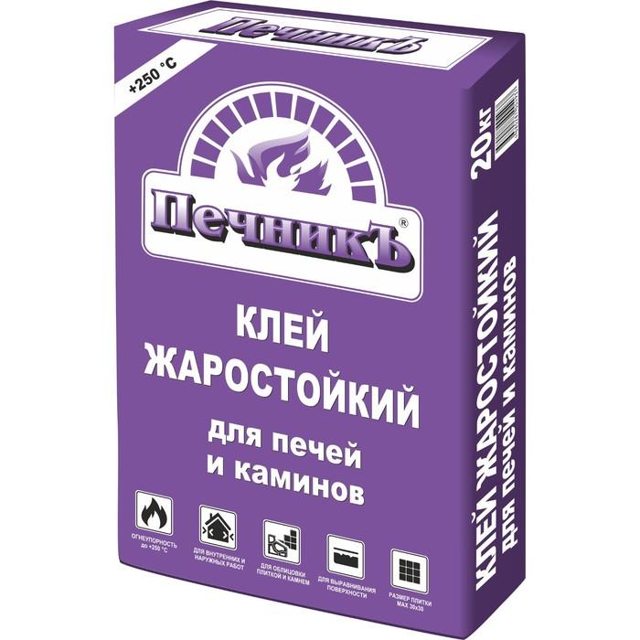 """Клей жаростойкий для печей и каминов """"Печникъ"""" 20,0 кг"""