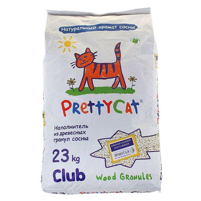 """Наполнитель древесный  """"PrettyCatWoodGranules"""", 23 кг"""
