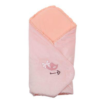 Одеяло-конверт на липучке, цвет персиковый, размер 75x75x1 см (арт. 40-8510)