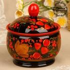 Sugar bowl, 12×12 cm, Khokhloma