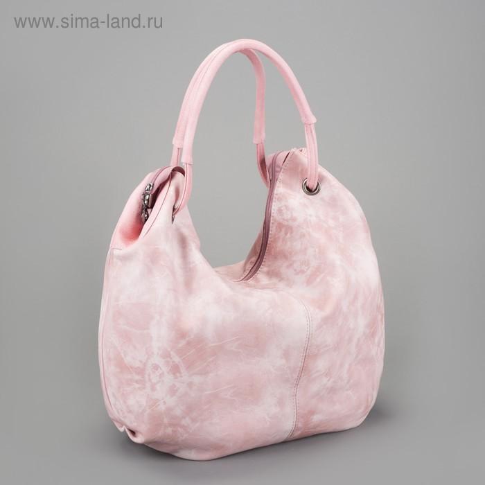 Сумка женская на молнии, 1 отдел, 1 наружный карман, розовая