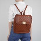 Рюкзак молодёжный на шнурке, 1 отдел, 1 наружный карман, коричневый