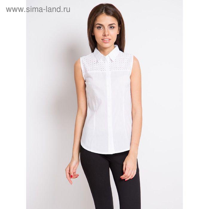 Блузка женская с коротким рукавом, рост 170 см, размер 44, цвет белый (арт. 15165-0,1)