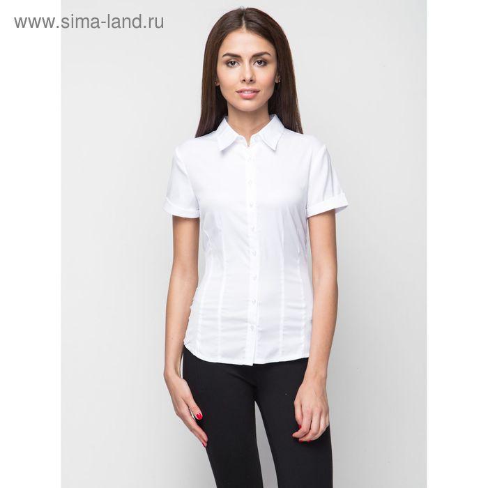 Блузка женская с коротким рукавом, рост 170 см, размер 46, цвет белый (арт. 905-132198-1)