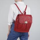 Рюкзак молодёжный на шнурке, 1 отдел, 1 наружный карман, красный