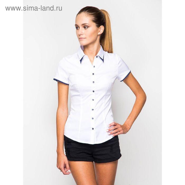 Блузка женская с коротким рукавом, рост 170 см, размер 52, цвет белый (арт. 905-13210L-1)