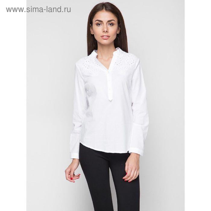 Блузка женская с длинным рукавом, рост 170 см, размер 44, цвет белый (арт. 15185)
