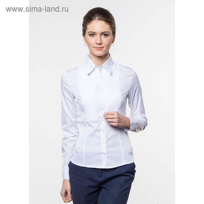 Блузка женская с длинным рукавом, рост 170 см, размер 52, цвет белый (арт. 905-1216L)