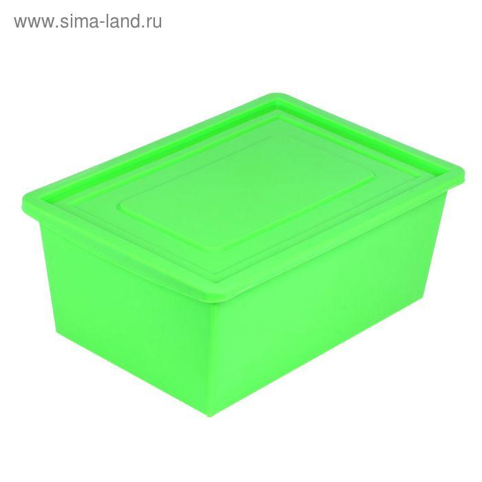 Ящик универсальный для хранения с крышкой, объем 30л. цвет: салатовый