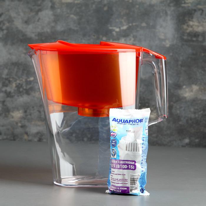 Фильтр-кувшин «Аквафор-Стандарт», 2,5 л, цвет оранжевый - фото 300913989