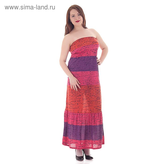 Сарафан женский, цвет ягодный, размер 50 (арт. 208ХВ1227)