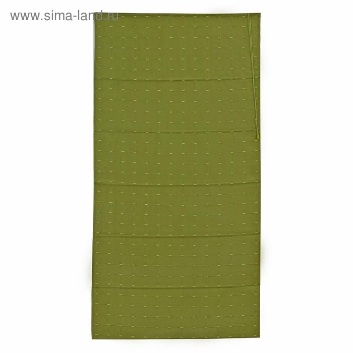 Римская тканевая штора 80х160 см Ammi, цвет зелёный