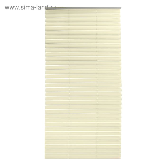Жалюзи пластиковые 60х160 см, цвет бежевый (полоса 3,8 см)