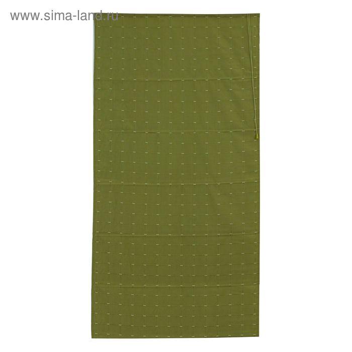 Римская тканевая штора 120х160 см Ammi, цвет зелёный