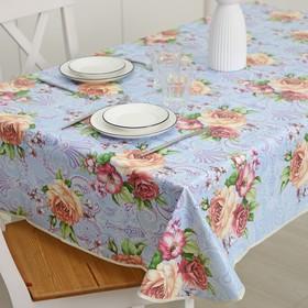Скатерть на нетканой основе многоразовая с бейкой «Цветы», 155×130 см, цвет МИКС