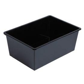 Ящик универсальный,для хранения без крышки, объем 30 л. цвет черный Ош