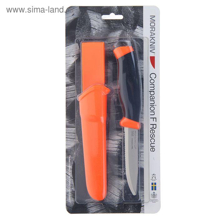 Нож нескладной Morakniv Companion F Rescue, 12213, углеродистая сталь, рукоять-резина
