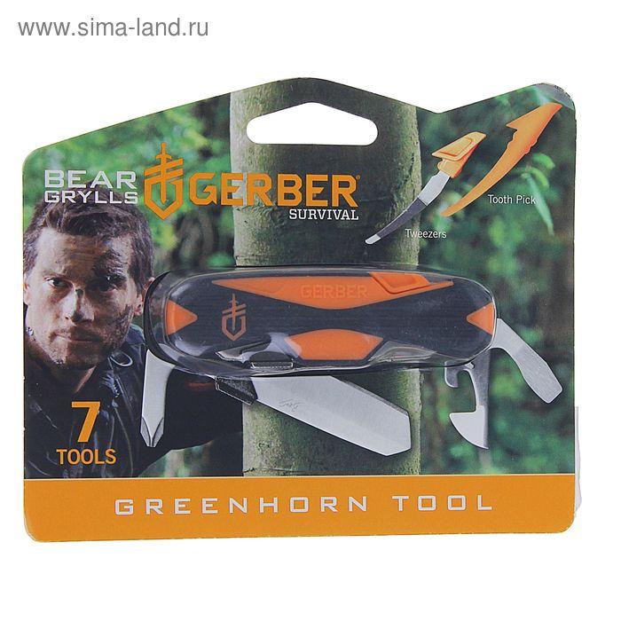 Мультитул Gerber Bear Grylls Greenhorn Tool 31-002784, сталь 5Cr15MoV