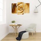 """Модульная картина на подрамнике """"Белая роза"""", 2 — 25,5×50,5 см, 1 — 30,5×60 см, 60×100 см"""