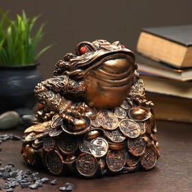 """Фигура """"Жаба на монетах"""" большая 18×18×18см"""