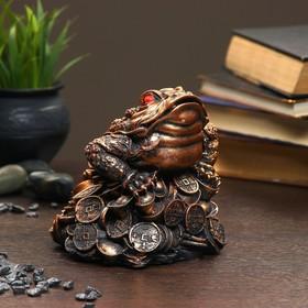 "Фигура ""Жаба на монетах"" малая 14×14×14см"