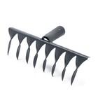 Грабли прямые, повёрнутый зубец, 8 зубцов, металлические, тулейка 28 мм, без черенка