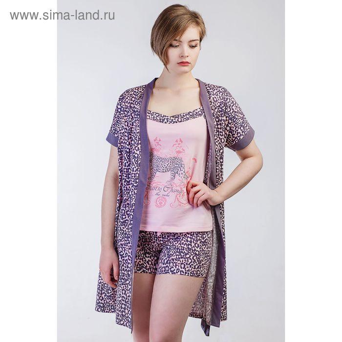 Комплект женский (халат, топ, шорты), размер 46 (арт. 8478)