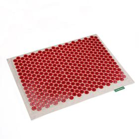 Массажёр-аппликатор «Тибетский», на мягкой подложке, для чувствительной кожи, с магнитами, цвет красный