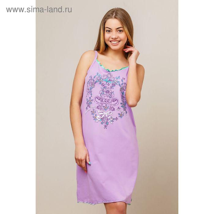 Сорочка женская, цвет сиреневый, размер 44 (арт. 8424)